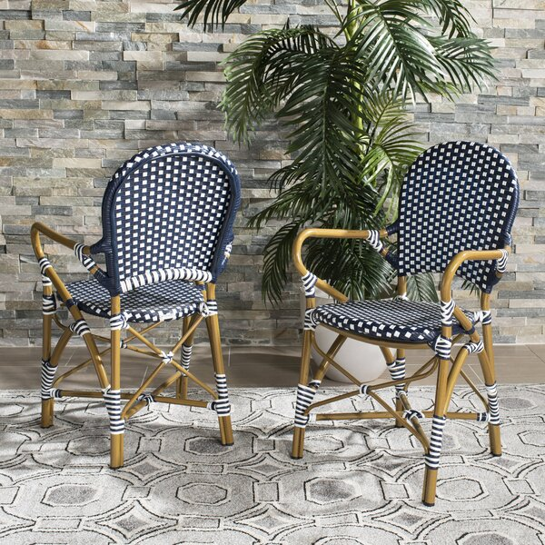 Culpeper Stacking Patio Dining Chair (Set of 2) by Bungalow Rose