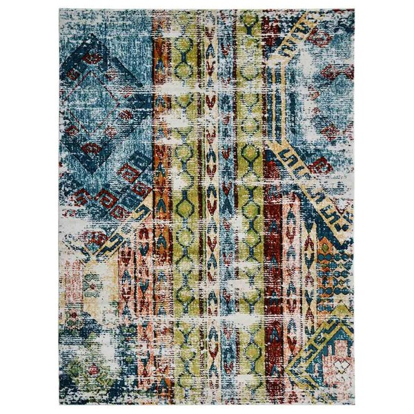 Hartshorn Green/Red Area Rug by Bungalow Rose