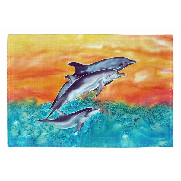 Dolphins Placemat (Set of 2) by Live Free