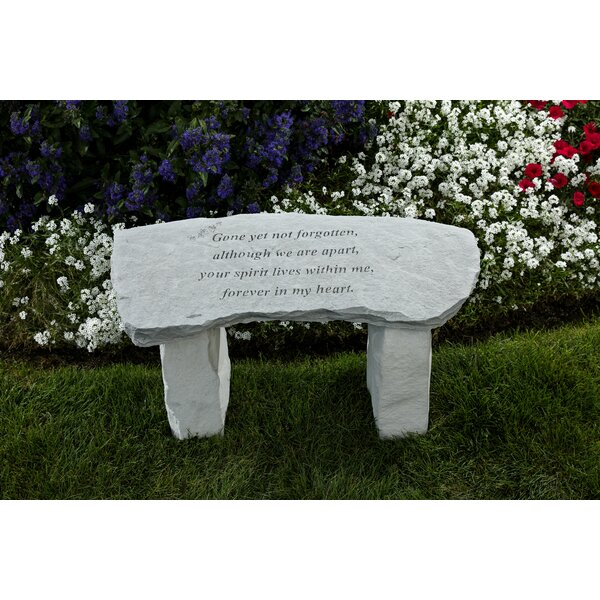 Gone Yet Not Forgotten Stone Garden Bench by East Urban Home East Urban Home