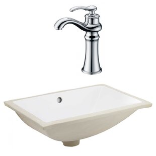Best Choices CSA Ceramic Rectangular Undermount Bathroom Sink with Faucet and Overflow ByRoyal Purple Bath Kitchen