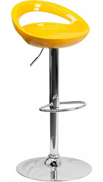 Dooley Adjustable Height Swivel Bar Stool By Ivy Bronx