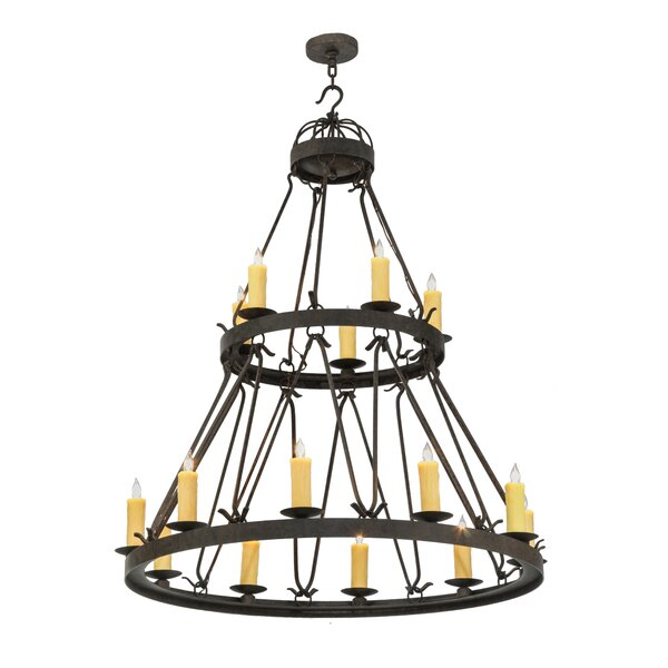 Ethelinda 15 - Light Candle Style Tiered Chandelier by 17 Stories 17 Stories