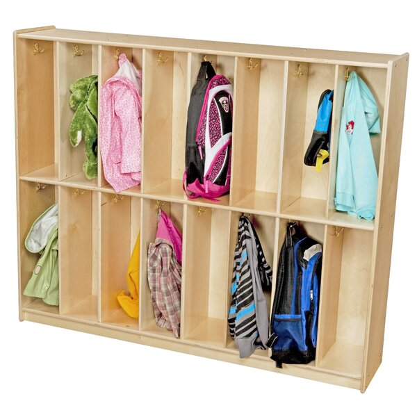 Contender 2 Tier 8 Wide Coat Locker by Wood Designs