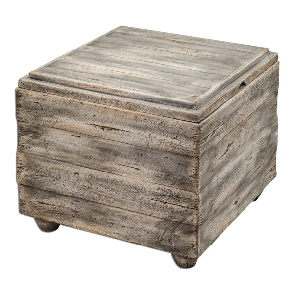 Avner Wooden Cube Table by Uttermost