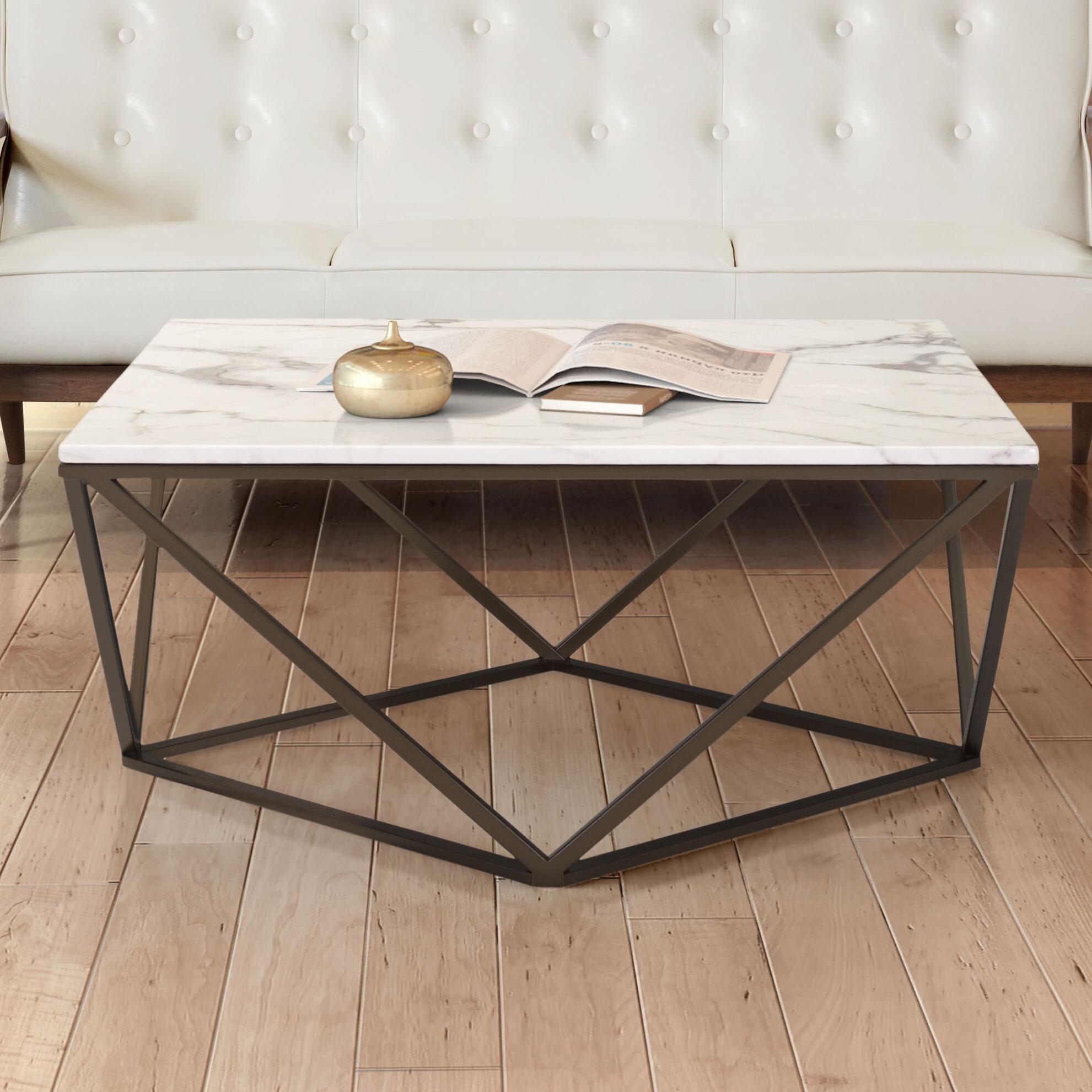 Brayden Studio Davies Marble Coffee Table U0026 Reviews | Wayfair