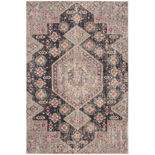 Griffeth Black/Gray Indoor/Outdoor Area Rug by Bungalow Rose