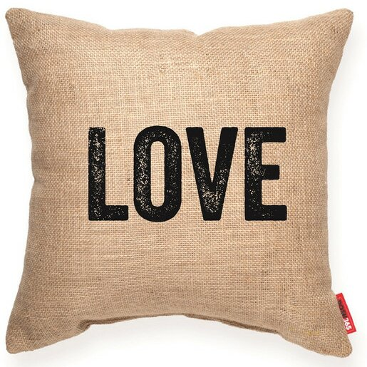 Pettis Love Decorative Burlap Throw Pillow by Wrought Studio