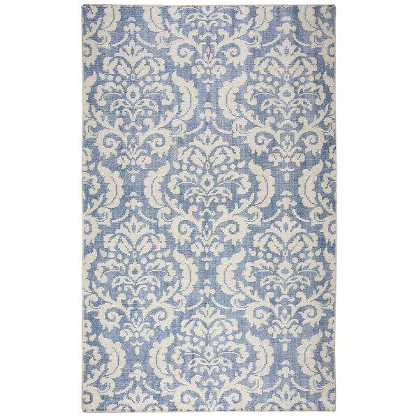 Gulfport Hand-Knotted Blue/Beige Area Rug by Meridian Rugmakers