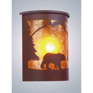 Find for Bear 1-Light Outdoor Flush Mount By Steel Partners