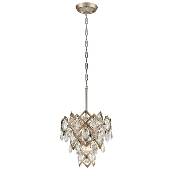 Tiara 3-Light Shaded Tiered Chandelier by Corbett Lighting Corbett Lighting