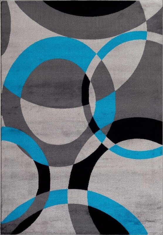 bennet abstract turquoise area rug