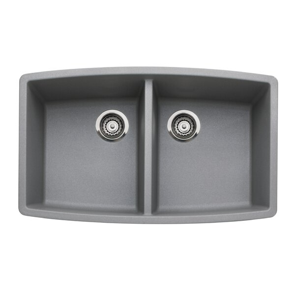 Performa 33 L x 20 W Double Bowl Kitchen Sink by Blanco