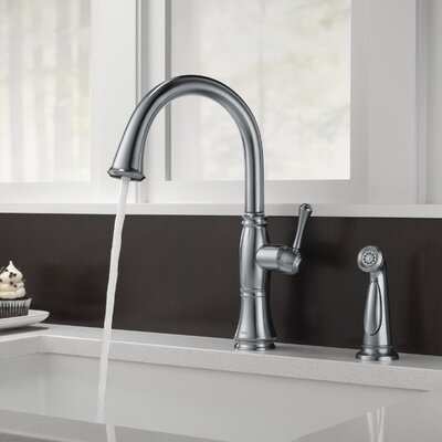 Cassidy Single Handle Kitchen Faucet with Side Spray and Diamond Seal Technology Finish: Arctic Stainless -  BirchLane, 4297-AR-DST