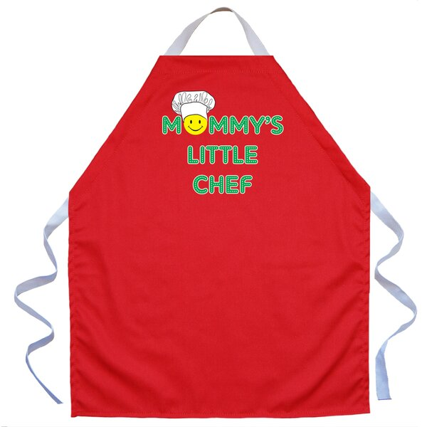 Little Chef Apron in Red by Attitude Aprons by L.A. Imprints