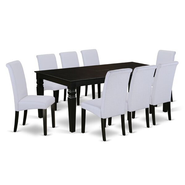 Park Avenue Table 9 Piece Extendable Solid Wood Dining Set by Charlton Home