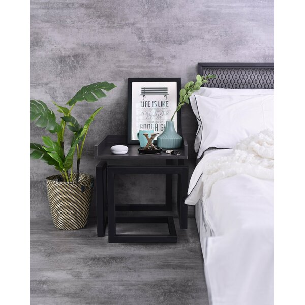 Metal Nightstand In Gray By Emma's Design
