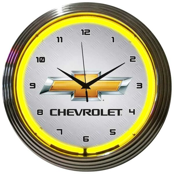 15 Gm Chevrolet Wall Clock by Neonetics
