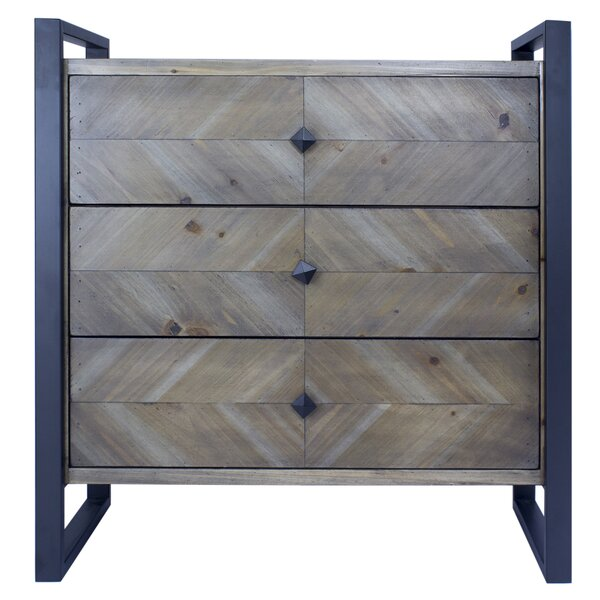 Delphine 3 Drawer Accent Chest by 17 Stories