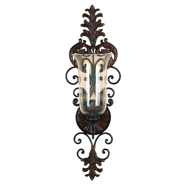 George Metal Glass Sconce by One Allium Way