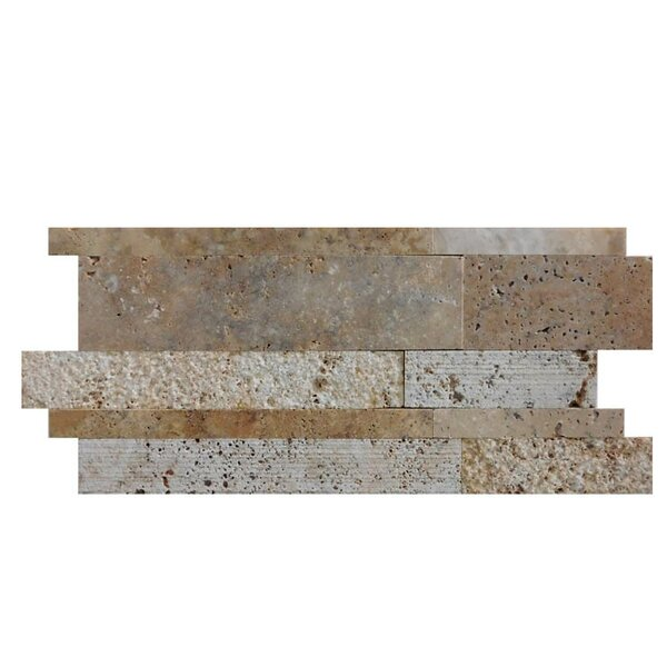 Tumbled Random Sized Natural Stone Mosaic Tile in Fantastico by QDI Surfaces