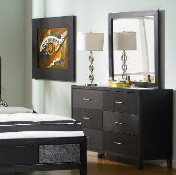 Frontenac 6 Drawer Double Dresser with Mirror by Ivy Bronx