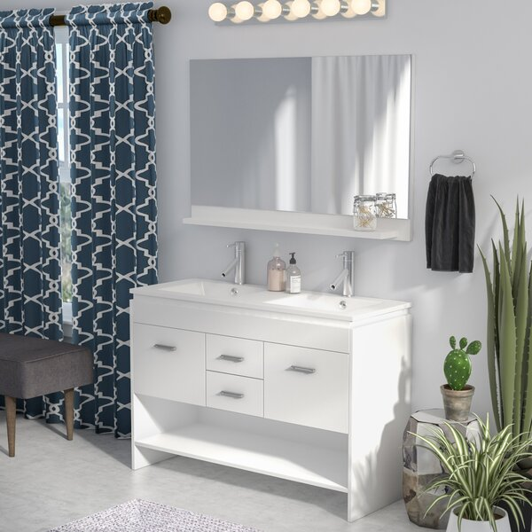 Frausto 47 Double Bathroom Vanity Set with Mirror by Brayden Studio