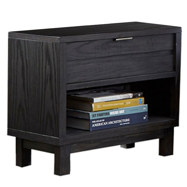 Aaminah 1 - Drawer Nightstand In Gray By Latitude Run