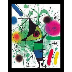 Singing Fish by Joan Miro Framed Painting Print by Buy Art For Less