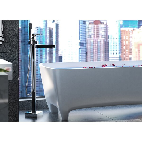 Arcadia Single Handle Floor Mounted Freestanding Tub Filler by CastelloUSA CastelloUSA