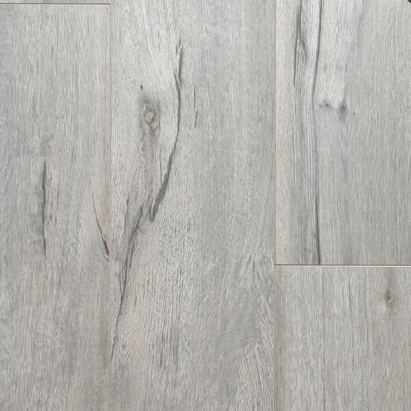 Essence 8 x 48 x 12mm Oak Laminate Flooring in White by Dyno Exchange