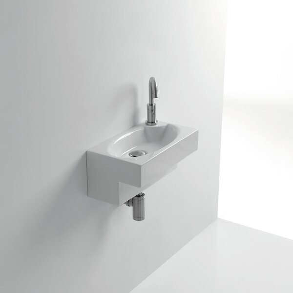 Whitestone Deca Ceramic 8 Wall Mount Bathroom Sink with Overflow by WS Bath Collections