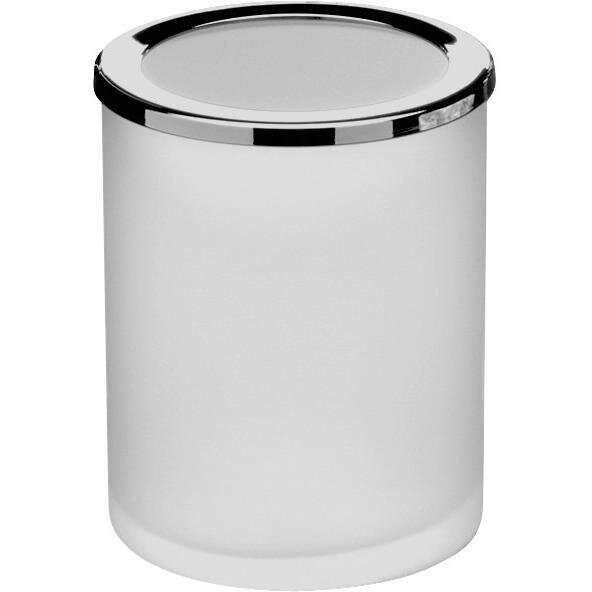 Mariani Frosted Glass Round Table Toothbrush & Tumbler Holder by Latitude Run