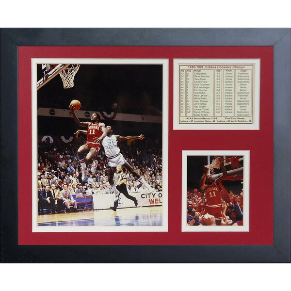 1981 Indiana Hoosiers Champions Framed Memorabilia by Legends Never Die