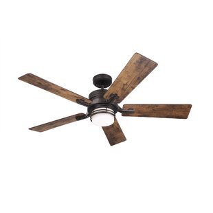 Reviews 54 Issac 5 Blade LED Ceiling Fan with Remote By Millwood Pines