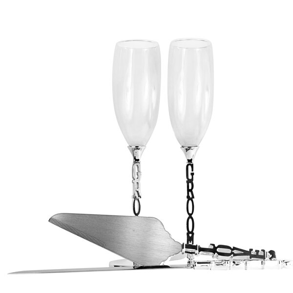 Marty Grooms 4 Piece Cake Server Set by Mint Pantry