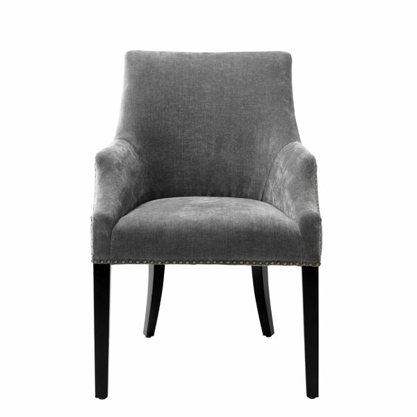 Upholstered Arm Chair In Gray By Eichholtz