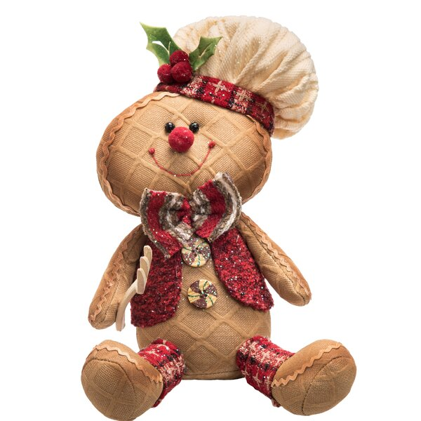 Walter Plush Glitter Sitting Gingerbread by The Holiday Aisle