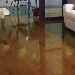 High Gloss 2-1/4 Solid Oak Hardwood Flooring in Chestnut by Somerset Floors