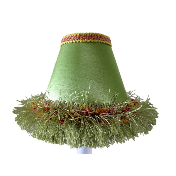 Caribbean 4 H Fabric Empire Candelabra Shade ( Clip On ) in Lime Green