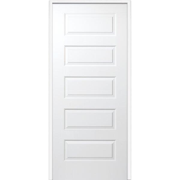 Rockport Primed Single MDF Panelled Prehung Interior Door by Verona Home Design