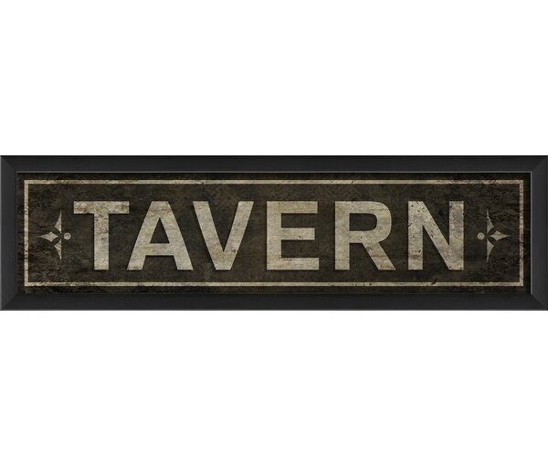 Tavern Sign Framed Textual Art by The Artwork Factory