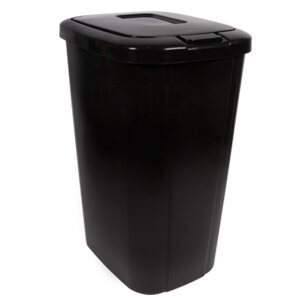 Plastic 13.3 Gallon Touch Top Trash Can (Set of 4) by Hefty