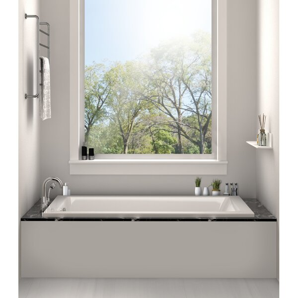 Drop In or Alcove Bathtub 36 x 72 Soaking Bathtub by Fine Fixtures