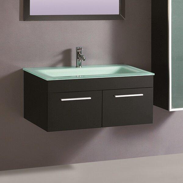 Agatha 32 Wall-Mounted Single Bathroom Vanity Set with Mirror by Orren Ellis
