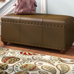 Trend Rohrbaugh Faux Leather Storage Bench ByCharlton Home
