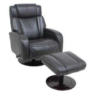 Manual Swivel Recliner With Ottoman by Global Furniture