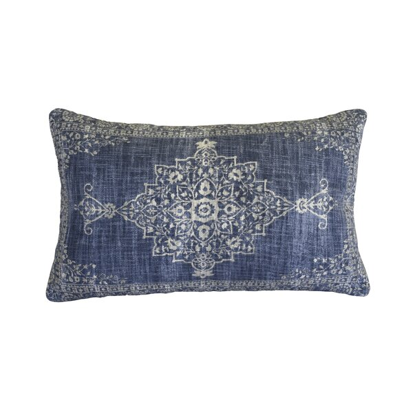 Boyles Antique Cotton Lumbar Pillow by Bungalow Rose
