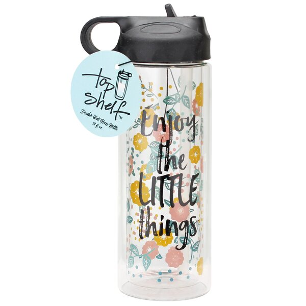 Enjoy the Little Things Glass 13 oz. Water Bottle by Top Shelf