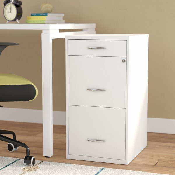Bottomley Steel 3 Drawer Filing Cabinet by Rebrilliant
